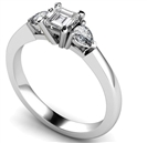 Image for Elegant Asscher & Pear Diamond Trilogy Ring