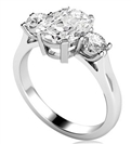 Image for Simple Cushion & Round Diamond Trilogy Ring