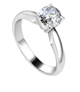 0.32CT VVS2/E Round Diamond Solitaire Ring