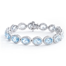 Image for 20.85CT Elegant Diamond & Aquamarine Bracelet