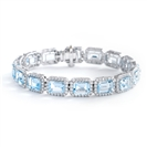 Image for 26.25ct ELEGANT DIAMOND & AQUAMARINE BRACELET