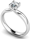 0.90CT SI2/D Round Diamond Solitaire Ring