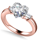 Image for Modern Heart & Baguette Diamond Trilogy Ring