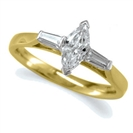 Image for Modern Marquise & Baguette Diamond Trilogy Ring