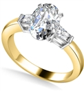 Image for Modern Oval & Baguette Diamond Trilogy Ring