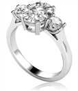 Image for Simple Oval & Round Diamond Trilogy Ring