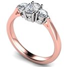Image for Elegant Oval & Round Diamond Trilogy Ring
