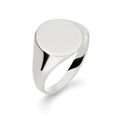 Image for Gents Oval Signet Ring
