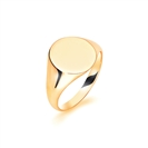 9ct Yellow Gold Gents Oval Signet Ring