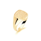 9ct Yellow Gold Gents Cushion Signet Ring