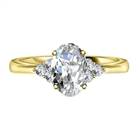 Image for Oval Diamond Side Stone Cluster Ring