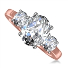 Image for Traditional Oval & Round Diamond Trilogy Ring