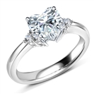 Image for Heart Diamond Side Stone Cluster Ring
