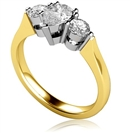 Image for Modern Pear & Round Diamond Trilogy Ring