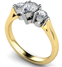 Image for Stylish Pear & Round Diamond Trilogy Ring