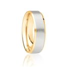 5mm Two Tone Wedding Ring