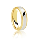 4mm Two Tone Wedding Ring