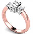 Image for Simple Radiant & Princess Diamond Trilogy Ring