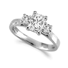 Classic Radiant & Round Diamond Trilogy Ring