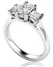 Classic Radiant & Princess Diamond Trilogy Ring
