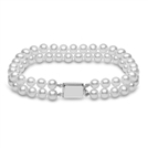 6mm Freshwater Pearl Double Row Bracelet