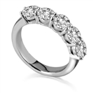 0.71ct VVS/FG Five Stone Eternity Ring