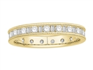 Image for 3mm Milgrain Round & Baguette Diamond Full Eternity Ring