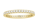 2mm Elegant Round Diamond Full Eternity Ring