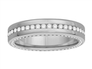 Image for 3 Sided Round Diamond Full Eternity Ring