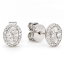 0.26CT VS/FG Oval Shaped Diamond Cluster Earrings
