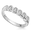 5 Stone Round Diamond Half Eternity Ring