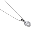 Image for Marquise Diamond Single Halo Pendant