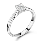 0.50CT SI2/F Princess Diamond Solitaire Ring