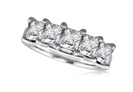 Image for 5 Stone Princess Diamond Half Eternity Ring
