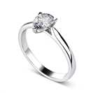 GIA CERTIFIED 0.60CT VVS1/D Pear Diamond Solitaire Ring
