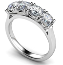 Image for Classic Four Stone Round Diamond Eternity Ring