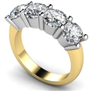Image for 4 Stone Round Diamond Half Eternity Ring