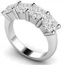 Image for Four Stone Princess Diamond Half Eternity Ring