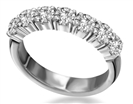 7 Stone Round Diamond Half Eternity Ring