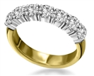 Image for 7 Stone Round Diamond Half Eternity Ring