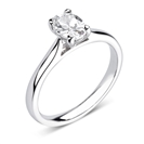 GIA CERTIFIED 0.70ct VS1/E Oval Diamond Solitaire Ring