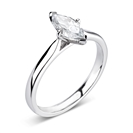 GIA CERTIFIED 0.50ct SI2/D Marquise Diamond Solitaire Ring