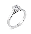 GIA CERTIFIED 0.70ct SI2/F Round Diamond Solitaire Ring