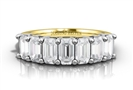 1.50CT VVS2/E Emerald Diamond Eternity Ring