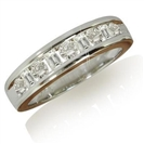 Image for Round & Baguette Diamond Eternity Ring