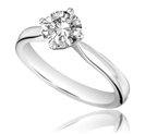 0.50CT SI2/G Round Diamond Solitaire Ring