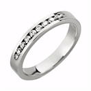 3.5mm Diamond Half Eternity/Wedding Ring