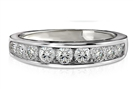 Round Channel set Diamond Eternity Ring