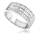 Image for Modern Princess Diamond Three Row Eternity/Dress Ring