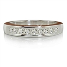 Image for Channel Set Princess Cut Diamond Eternity Ring